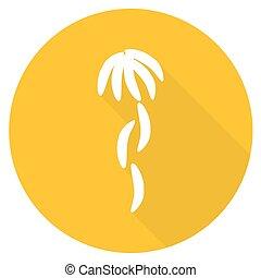 Banana. Flat design with long shadow