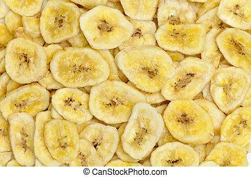 banana, fondo, fette