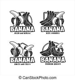 Banana fresh and healthy design vector collection