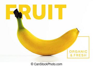 Banana fruit organic and fresh food poster