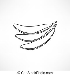 banana gialla, icona
