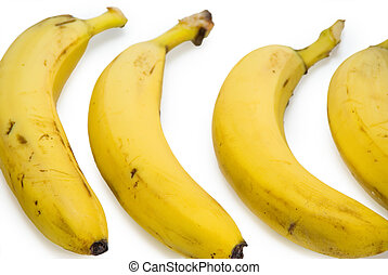 Banana group isolated on the white background