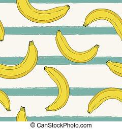 banana , hand draw sketch seamless pattern.