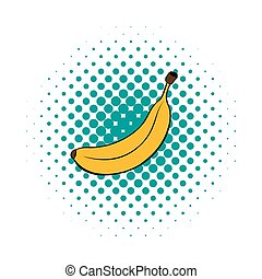 Banana icon in comics style