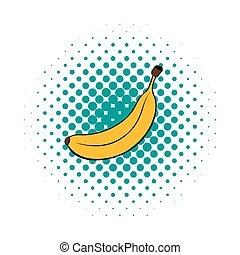 Banana icon in comics style