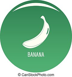Banana icon vector green
