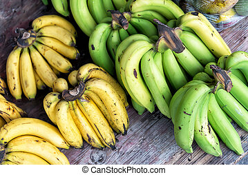 Banana in market palce with soft light