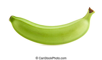 banana is isolated on a white background. Picture from ...