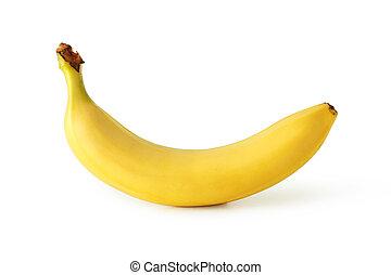 banana, isolado, branco