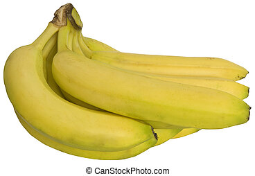 Banana isolated on the white