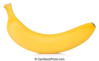 banana isolated on white background Clipping Path