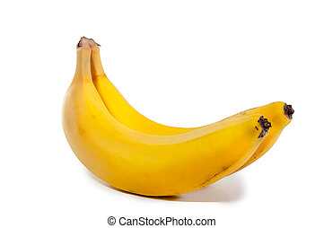 Banana isolated on white background with clipping path