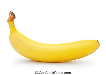 banana isolated on white with clipping path