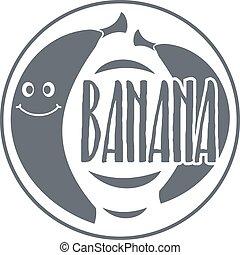 Banana logo, vintage style
