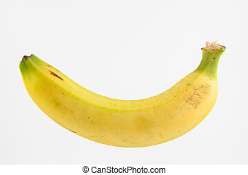 Banana (Musa acuminata) isolated on white background