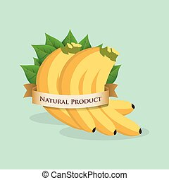 banana natural product label