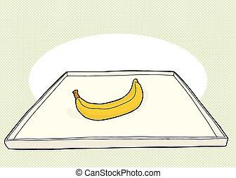 Banana On Tray Illustration