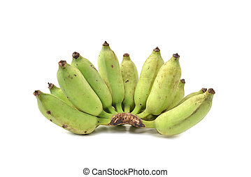 Banana on white background.