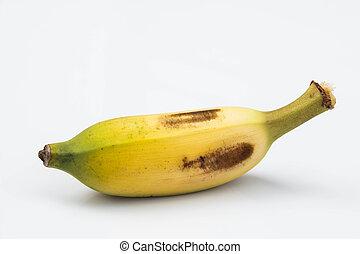 Banana on white background