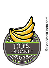 Banana Organic label