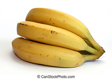 Banana over white
