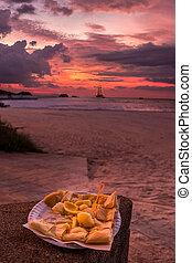 Banana pancake sunset