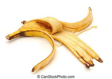 banana peel , isolated on white background