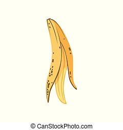 Banana peel, organic garbage, utilize waste concept vector Illustration on a white background