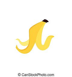 Banana peel vector - Vector illustration banana peel icon...