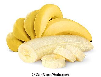 Banana - Ripe bananas isolated on white