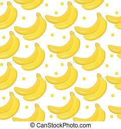 Banana seamless pattern. endless background, texture. Fruits backdrop. Vector illustration.