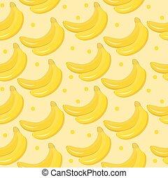 Banana seamless pattern. endless background, texture. Fruits backdrop Vector illustration.