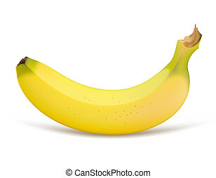 Banana - Single banana isolated on a white background