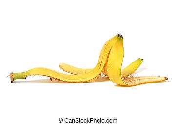 Banana Skin - Banana skin isolated on white background
