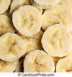 Banana Slices Overhead View