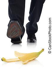 Banana slip - concept of unforseen problem, insurance claim.