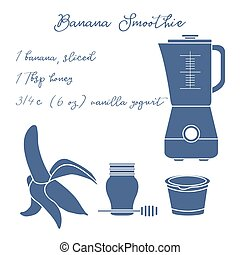 Banana smoothie. Healthy eating habits. - Recipe, blender ...