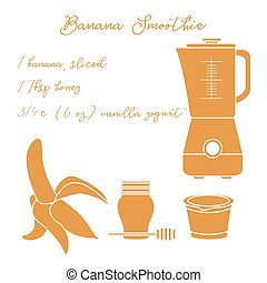 Banana smoothie. Healthy eating habits.