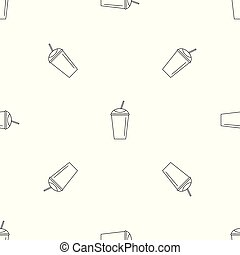 Banana smoothie pattern seamless vector repeat geometric for...