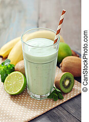 Banana smoothie  with kiwi