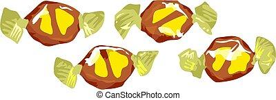 Banana Split Toffee - Banana split toffees.