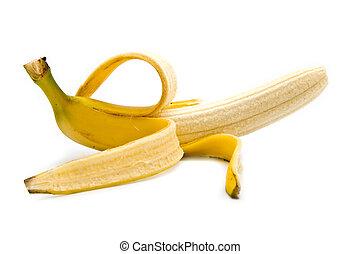 banana on a white background