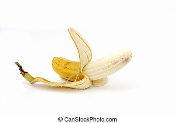 banana isolated on a pure white background