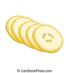 Banana, sweet fruit. A fruit single icon in cartoon style vector symbol stock illustration web.