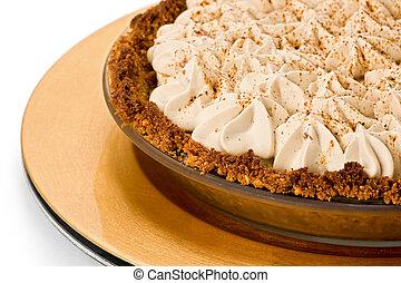 Banana Toffee Pie - Banana toffee pie with hazelnut and ...