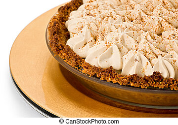 Banana Toffee Pie - Banana toffee pie with hazelnut and...