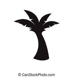 banana tree icon vector