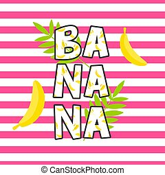 Banana tshirt design vector print.