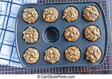 Banana Walnut and Chia Seed Muffins