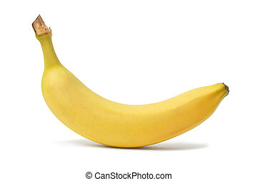 Banana - Yellow banana on white background